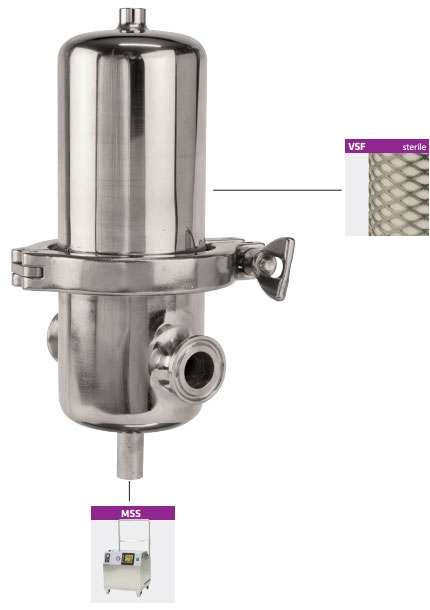 stainless steel sterile filter