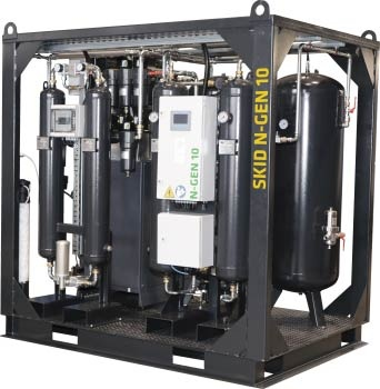 Skid With Nitrogen Generator Omega Air Air And Gas